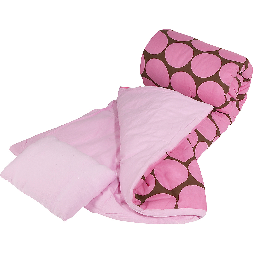 Wildkin Big Dots - Pink Sleeping Bag - Big Dots - Pink - Travel Accessories, Travel Pillows & Blankets