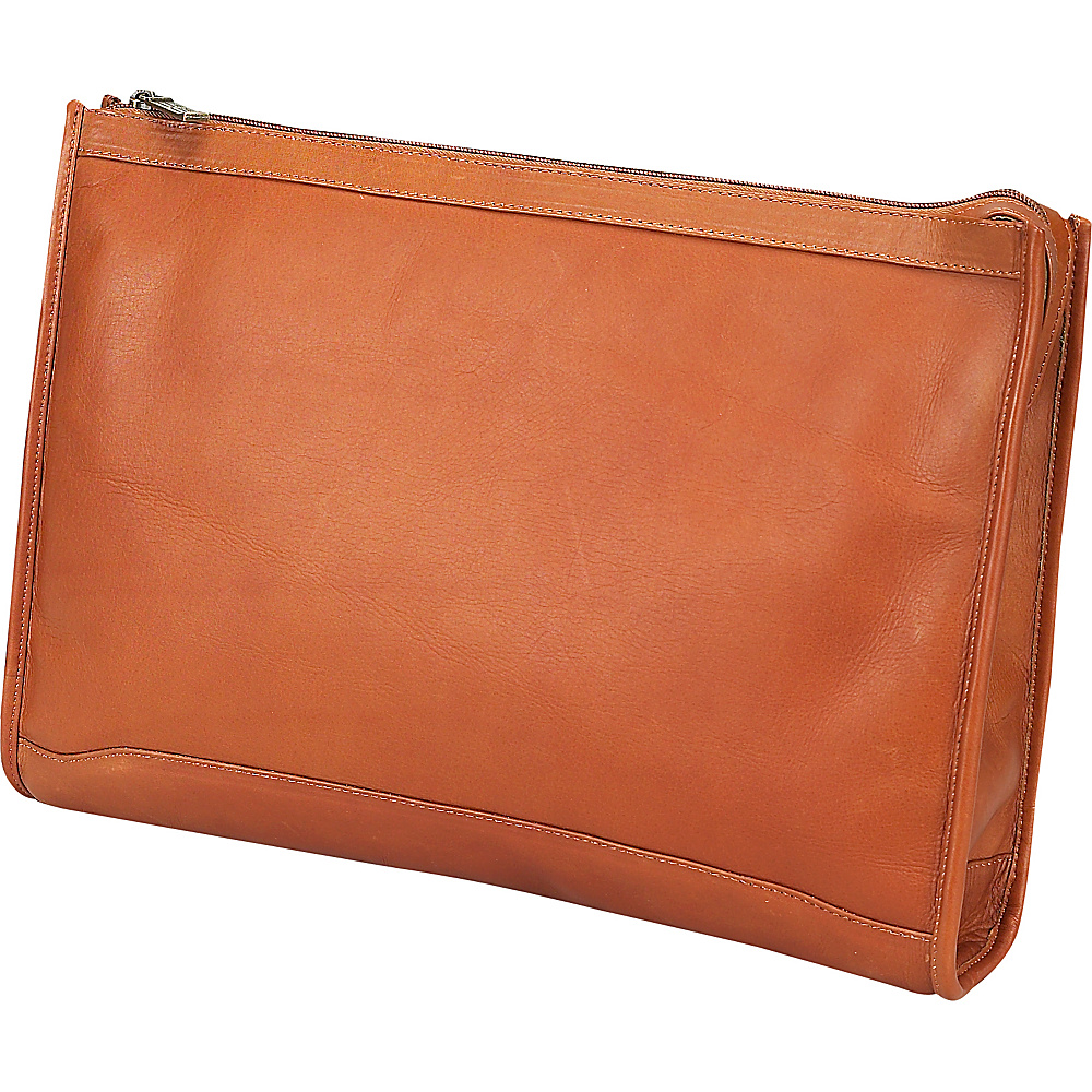 ClaireChase Zippered Folio Pouch - Saddle - Work Bags & Briefcases, Business Accessories