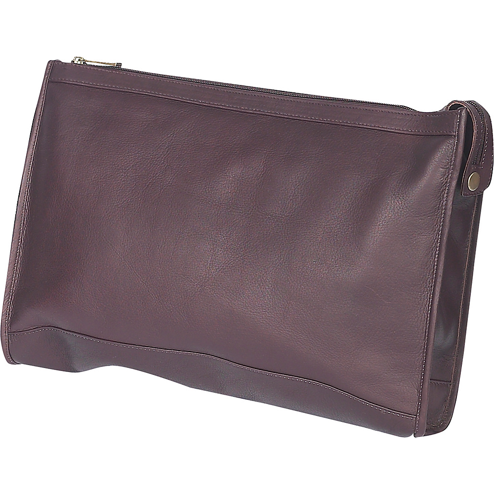 ClaireChase Zippered Folio Pouch - Cafe - Work Bags & Briefcases, Business Accessories
