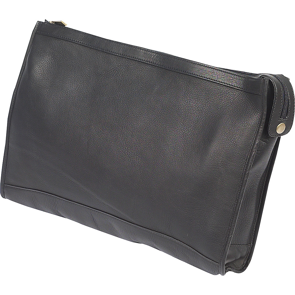 ClaireChase Zippered Folio Pouch Black