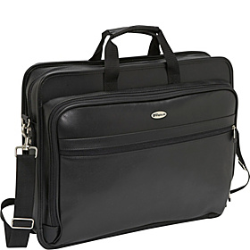 17'' Deluxe Leather Laptop Case  Black