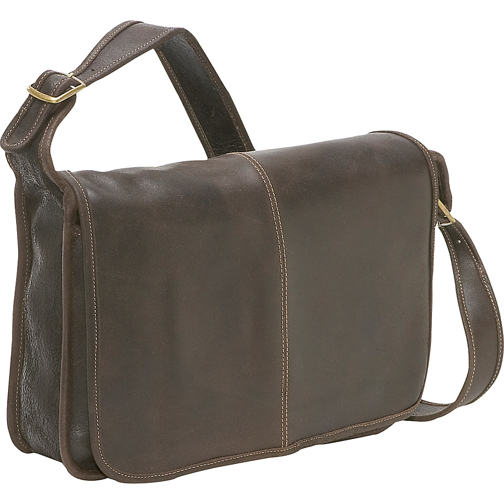 Le Donne Leather Distressed Leather Messenger - Work Bags & Briefcases, Messenger Bags