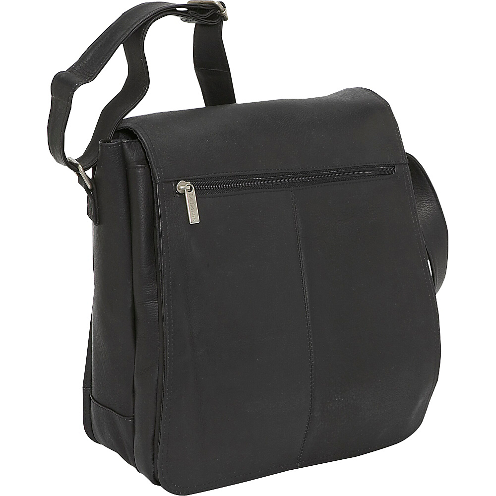 Le Donne Leather Computer Messenger Black