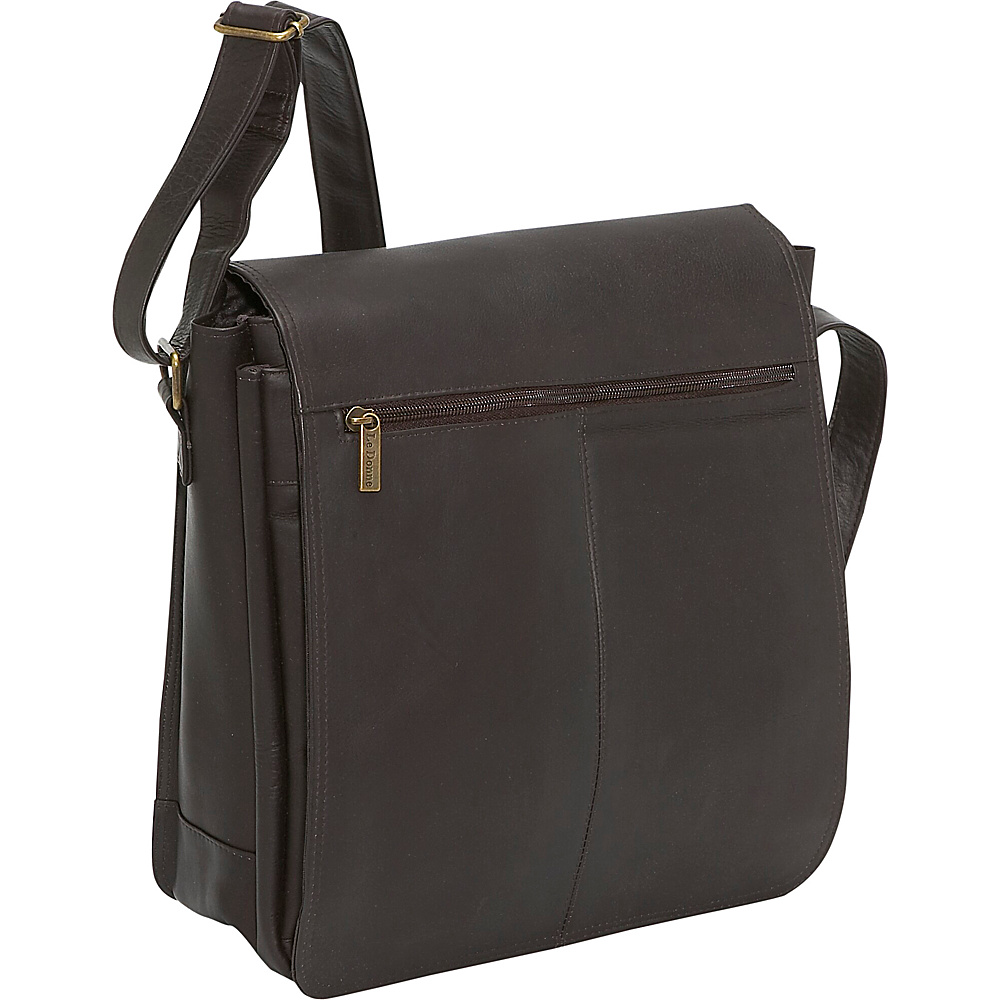 Le Donne Leather Computer Messenger - Caf - Work Bags & Briefcases, Messenger Bags