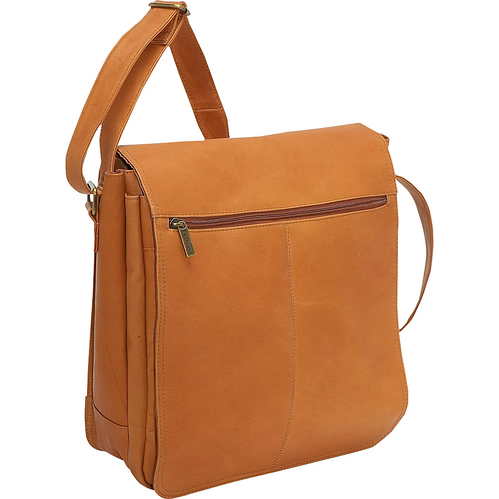Le Donne Leather Computer Messenger Tan