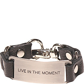 Message Bracelet - Black/live In The Moment Black