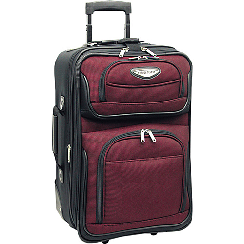 Traveler-039-s-Choice-Amsterdam-21-034-Expandable-Carry-on-4-Colors