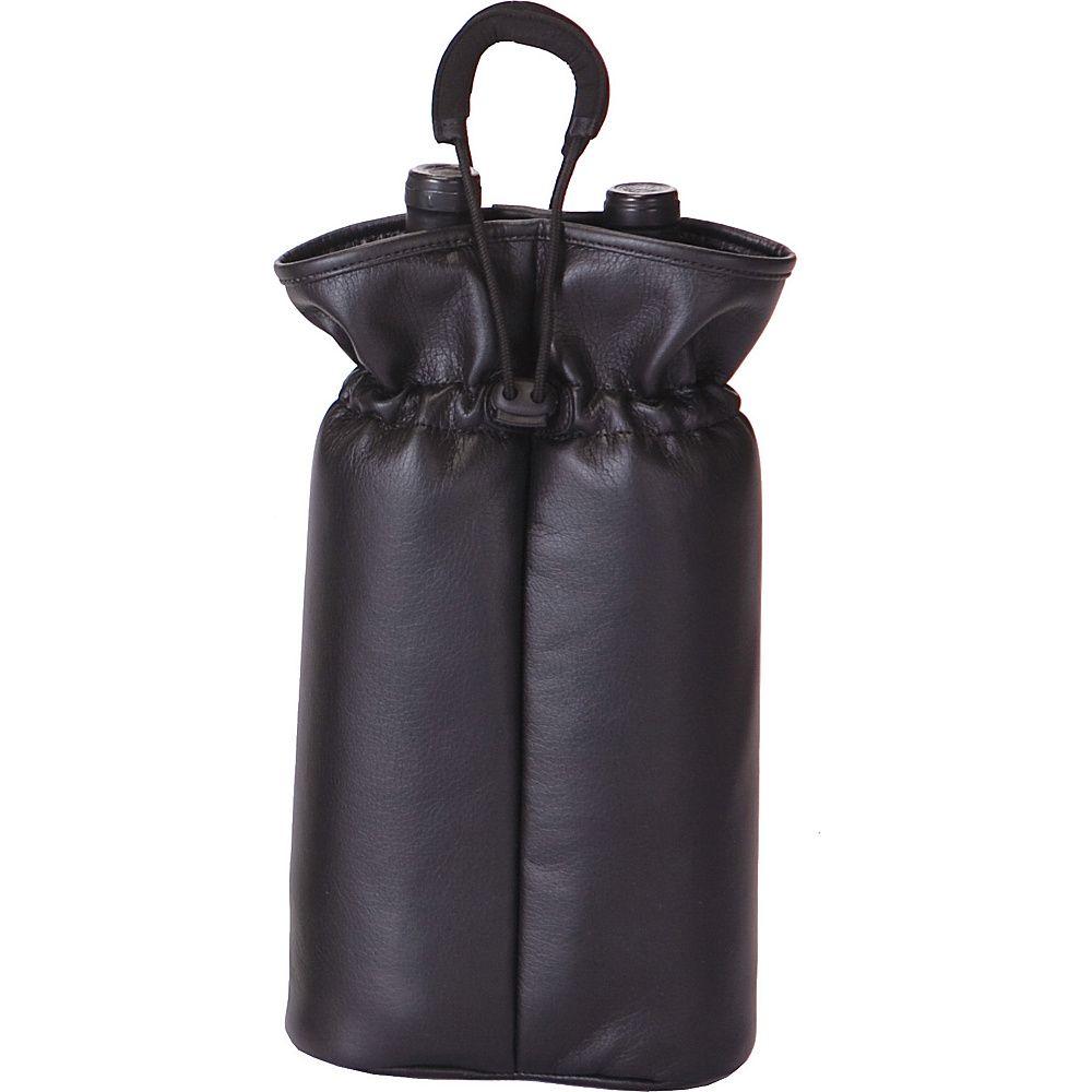 Picnic Plus Double Bottle Pouch Black Faux Leather