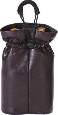 Picnic Plus Double Bottle Pouch - Brown Faux Leather