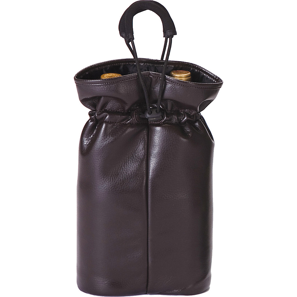 Picnic Plus Double Bottle Pouch Brown Faux Leather