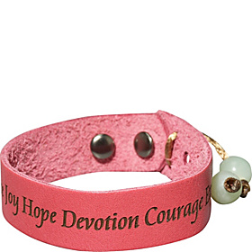 Life love peace Bracelet- Medium Bubble Gum