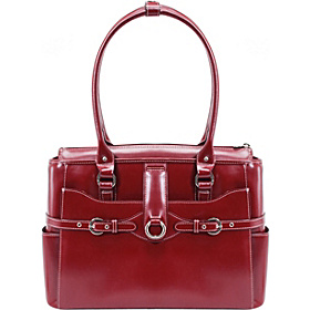 W Series Willow Springs Leather Ladies' Briefcase Red