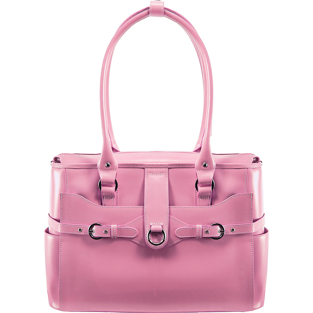 McKlein USA W Series Willow Springs 15.6 Leather Ladies Briefcase Pink - McKlein USA Womens Business Bags - Work Bags & Briefcases, Women's Business Bags