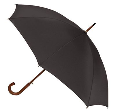 ShedRain Traditional Wood Shaft Umbrella - Black
