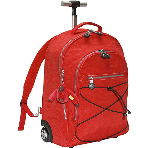 Kipling Sausalito 18″ Wheeled Backpack – Red | Kayvee