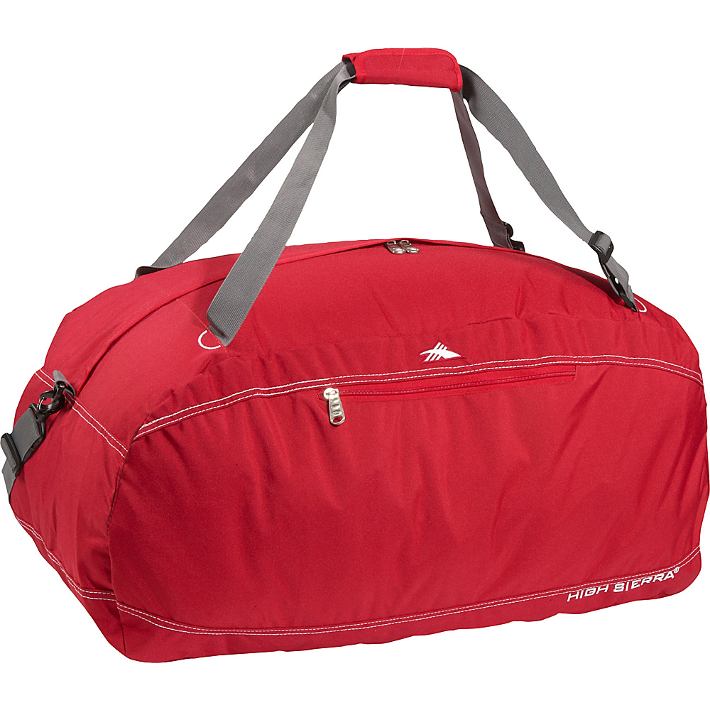 High Sierra Pack-N-Go 30 Duffel - CarmineRed - Duffels, Outdoor Duffels
