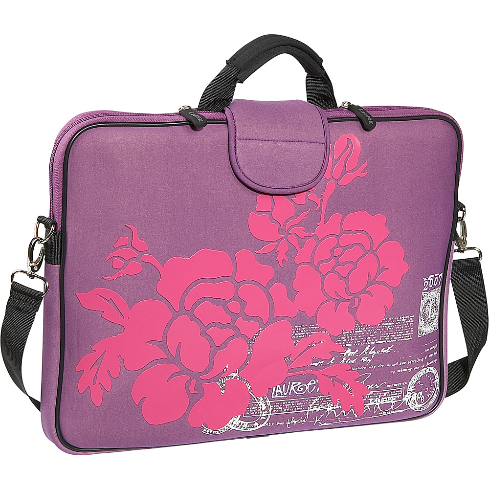 Laurex 17 Laptop Sleeve Purple Hibiscus