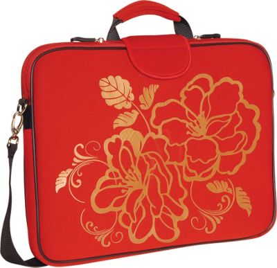 Laurex 17 inch Laptop Sleeve Red Camellia - Laurex Electronic Cases