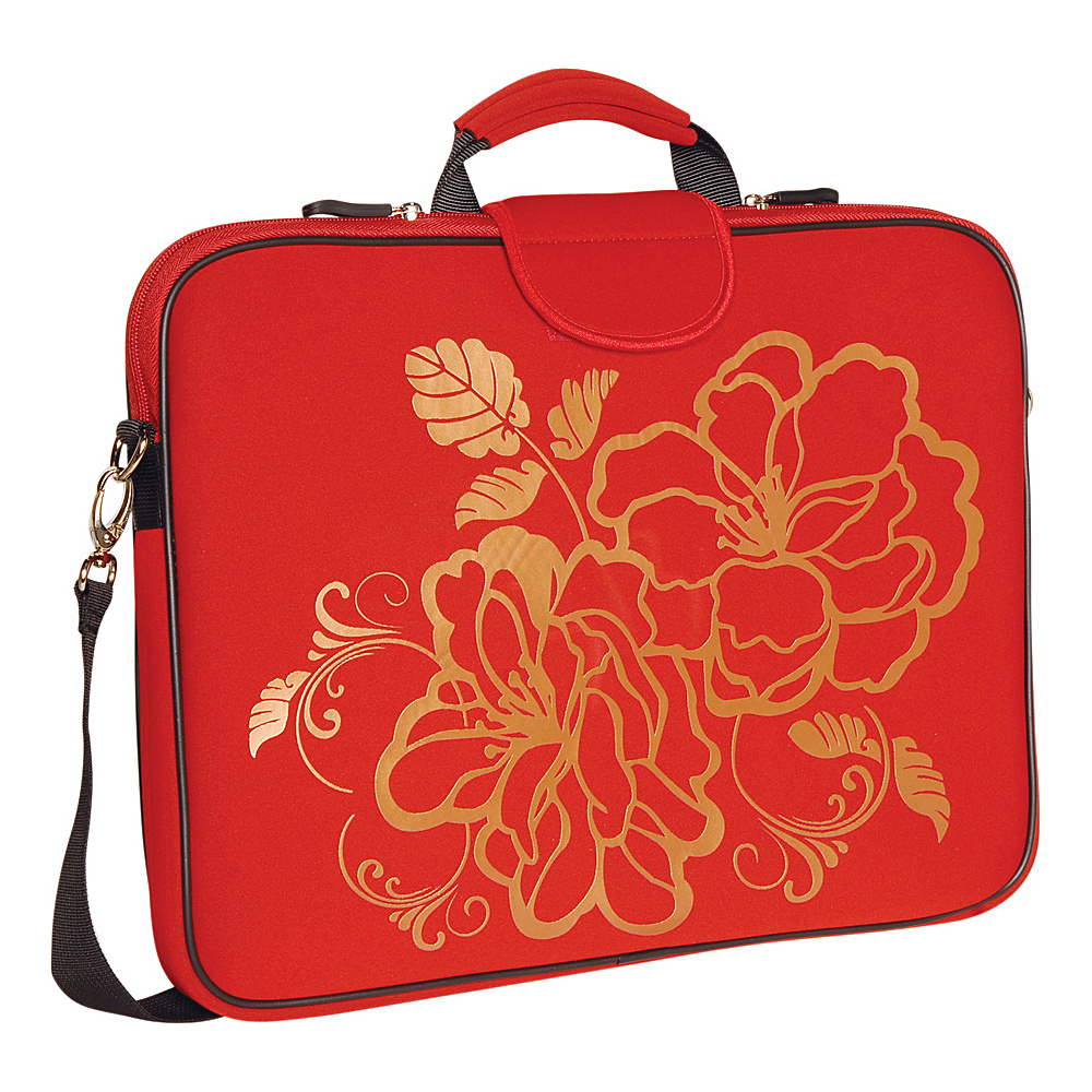 Laurex 17 Laptop Sleeve Red Camellia Laurex Electronic Cases