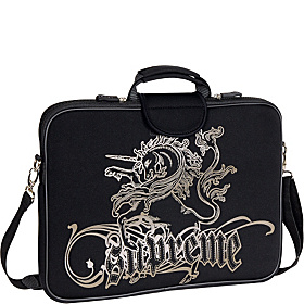 17'' Laptop Sleeve Black Unicorn