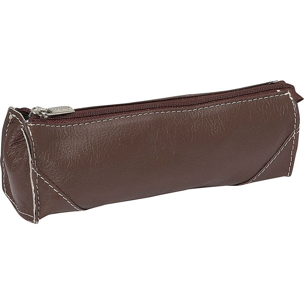 Piel Brush Pencil Bag - Chocolate - Travel Accessories, Toiletry Kits