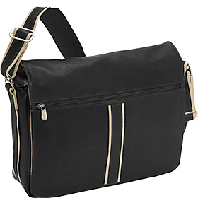 Four-Section Urban Laptop Messenger Black