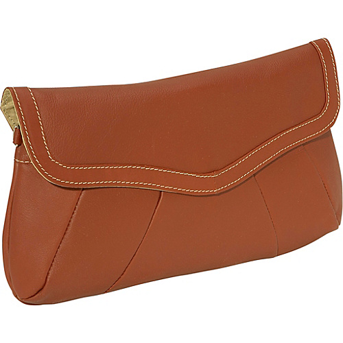 Piel Rainbow Purse/Clutch - Saddle