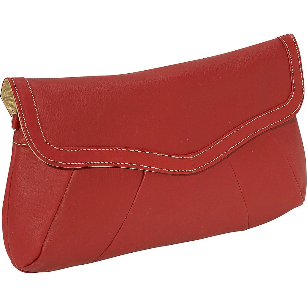 Piel Rainbow Purse/Clutch - Red - Women's SLG, Women's Wallets