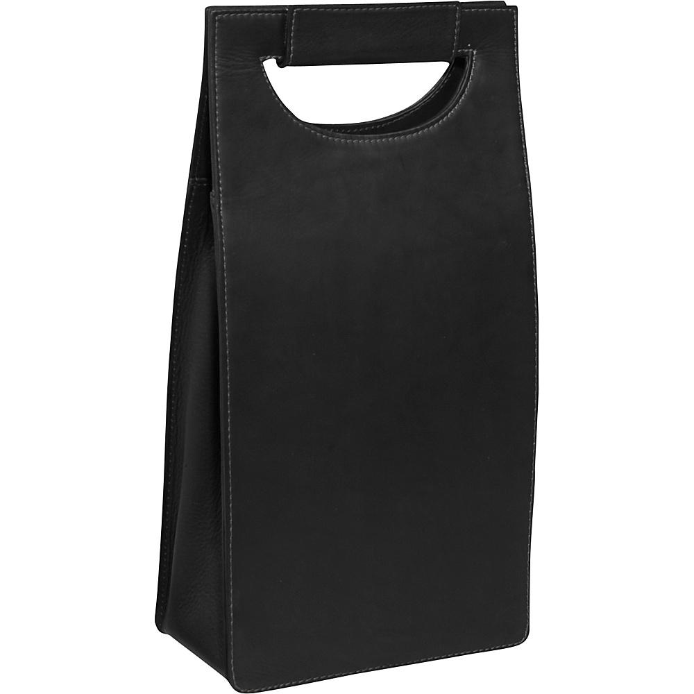 Piel Double Wine Carrier - Black - Outdoor, Outdoor Accessories
