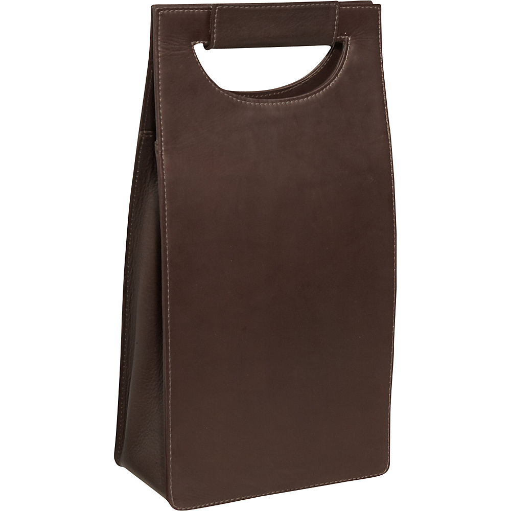 Piel Double Wine Carrier - Chocolate - Outdoor, Outdoor Accessories