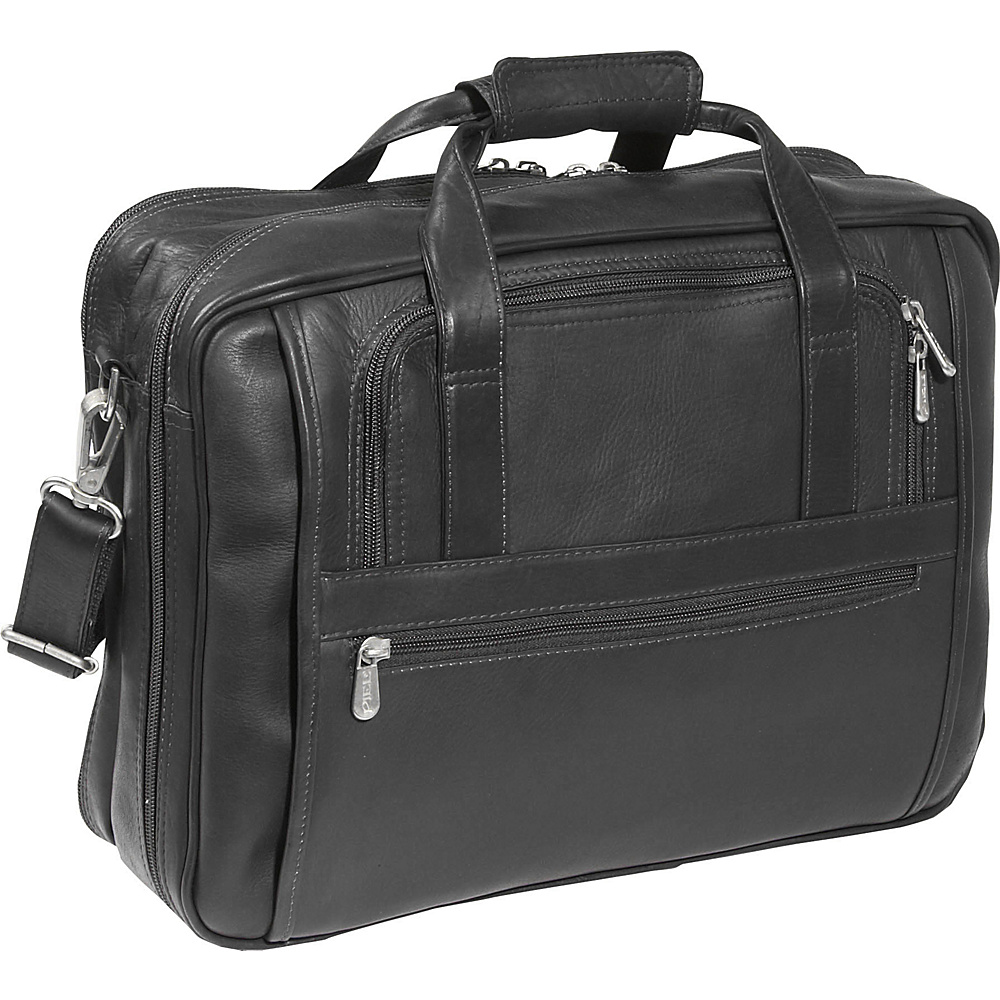 Piel Laptop-Ultra Compact Computer Bag - Black - Work Bags & Briefcases, Non-Wheeled Business Cases