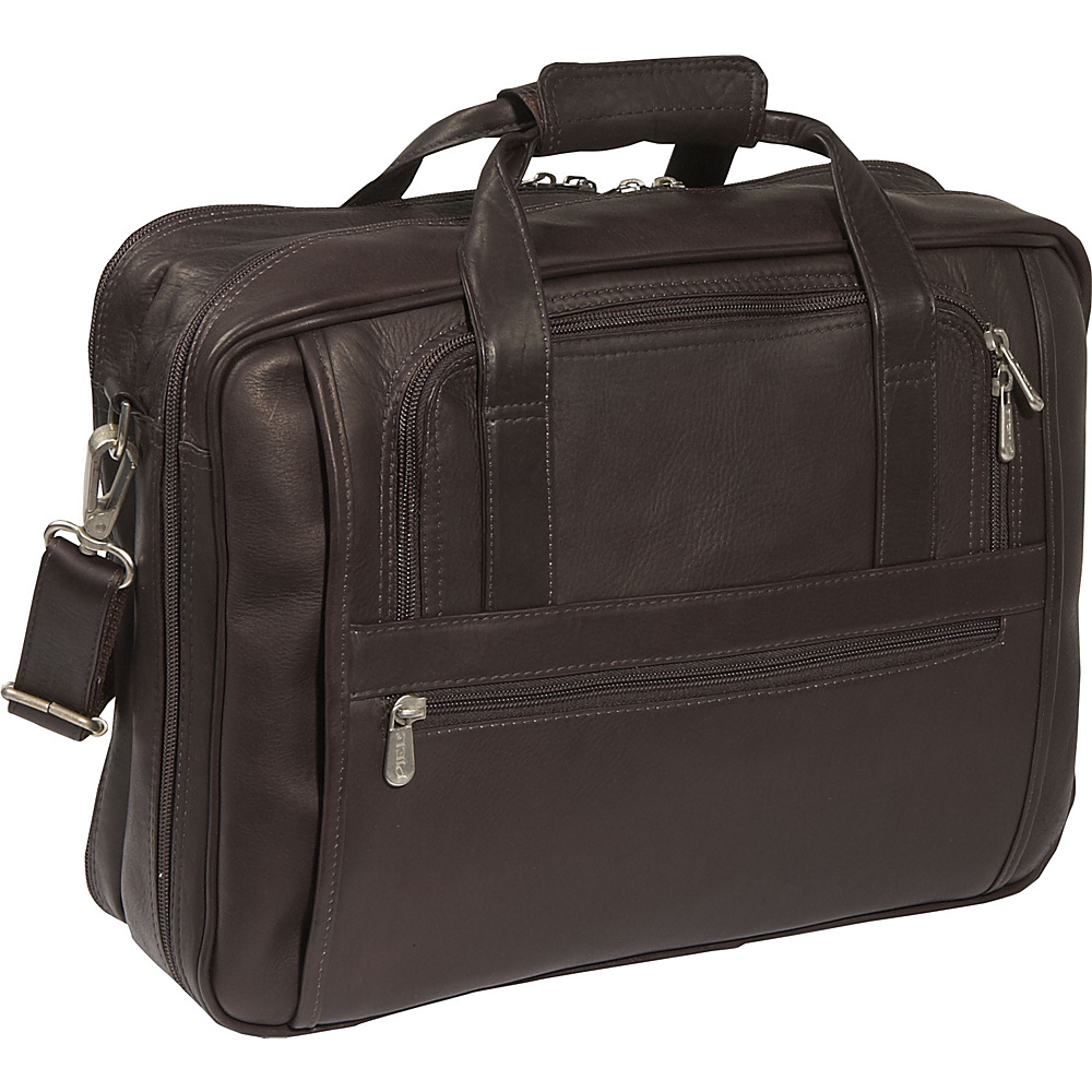 Piel Laptop-Ultra Compact Computer Bag - Chocolate - Work Bags & Briefcases, Non-Wheeled Business Cases