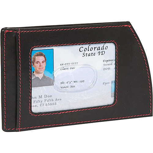 Rogue Wallets RFID Weekender Wallet - Black with Red