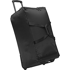 30'' Foldable 2 Wheeled Duffle Bag Black