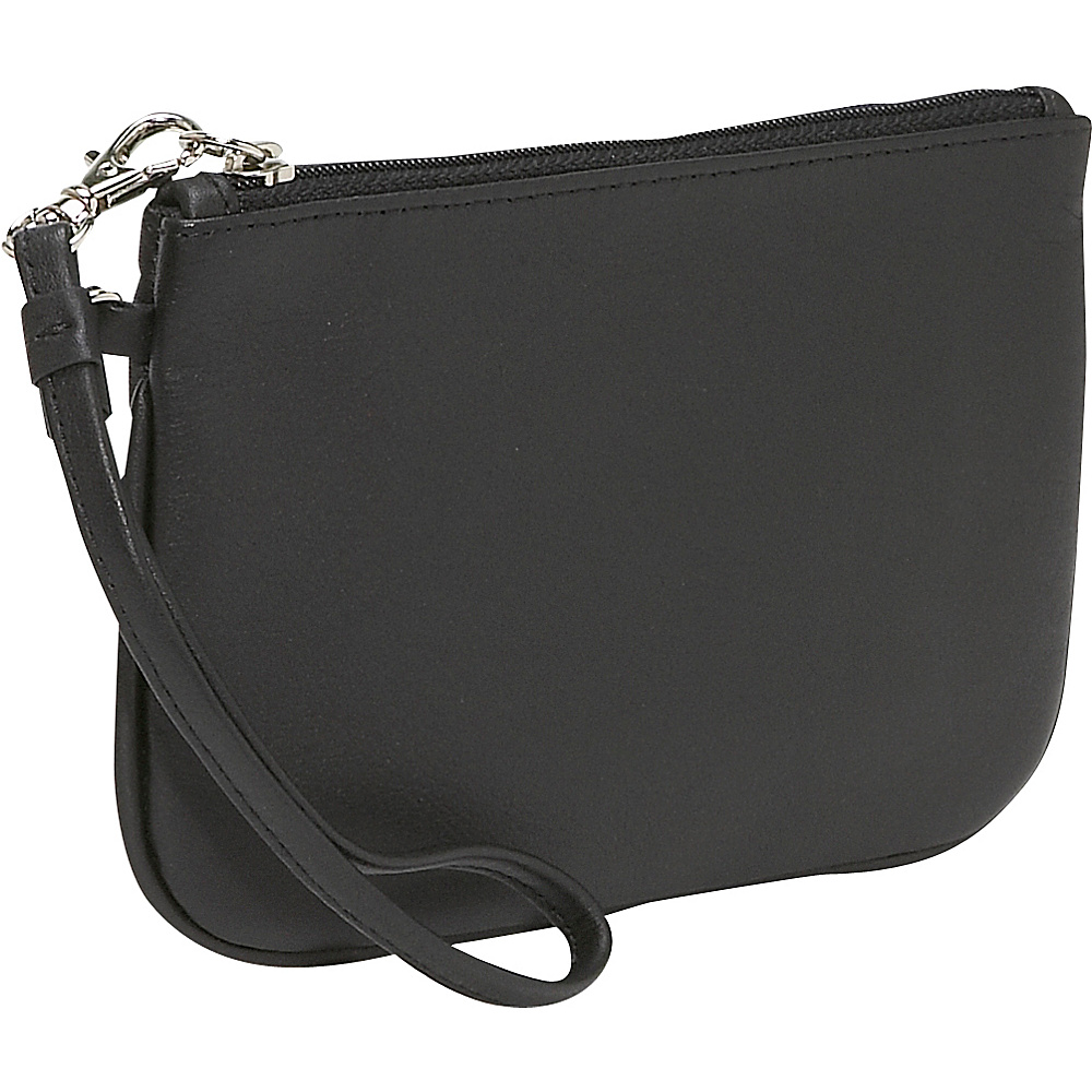 Royce Leather Wristlet Black
