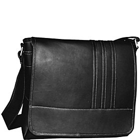 Vertical Laptop Messenger w/ 3 stripes Black