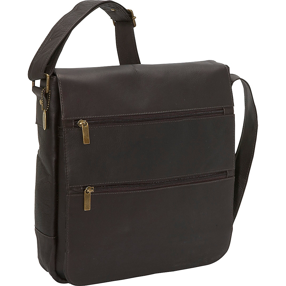 David King Co. Laptop Messenger w 2 Zip Pockets