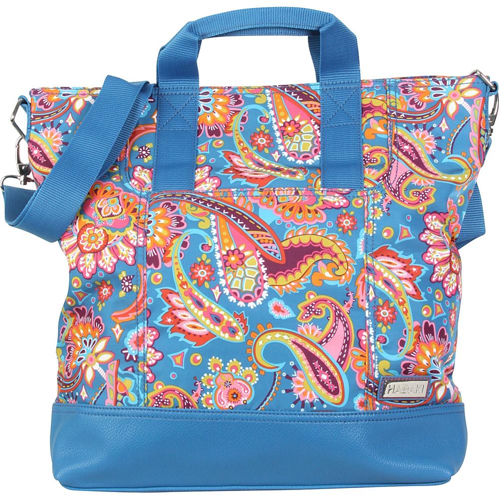 Hadaki French Tote Cassandra Paisley - Hadaki Manmade Handbags - Handbags, Manmade Handbags