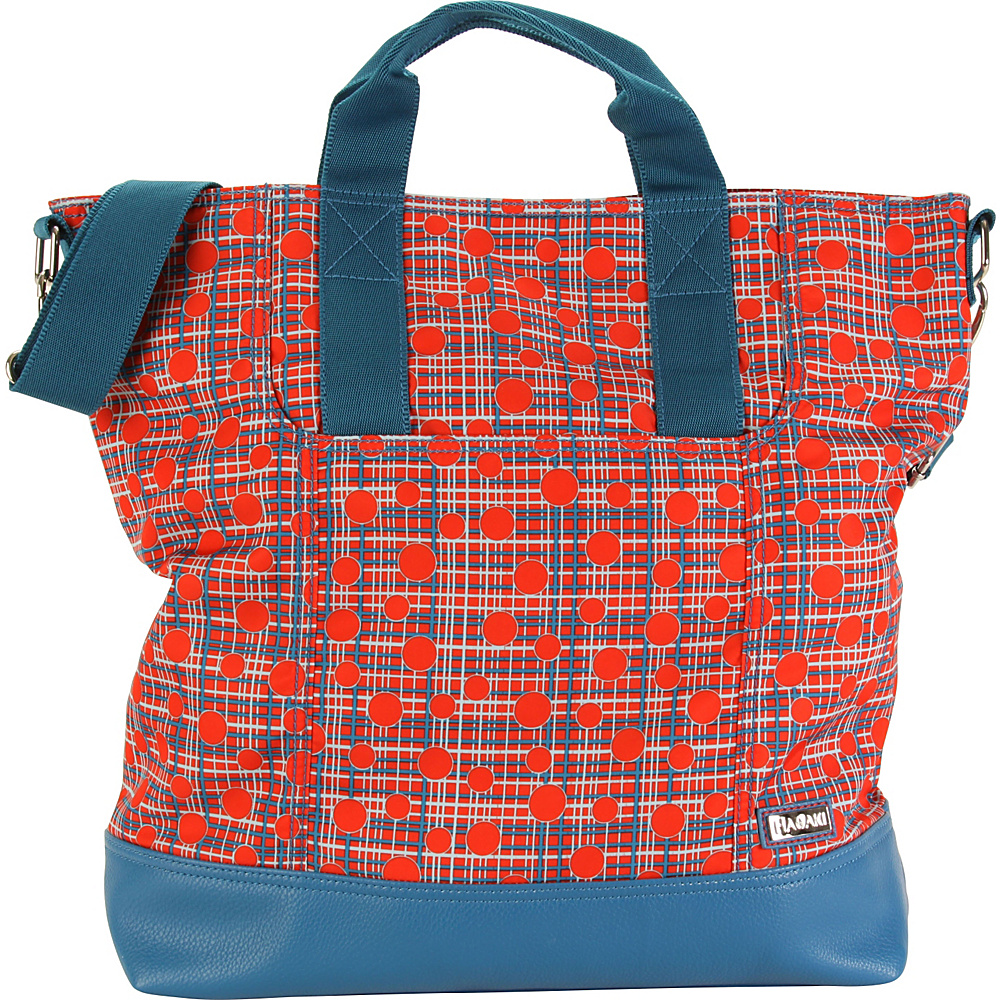 Hadaki French Tote Fiery Red Plaid - Hadaki Manmade Handbags - Handbags, Manmade Handbags