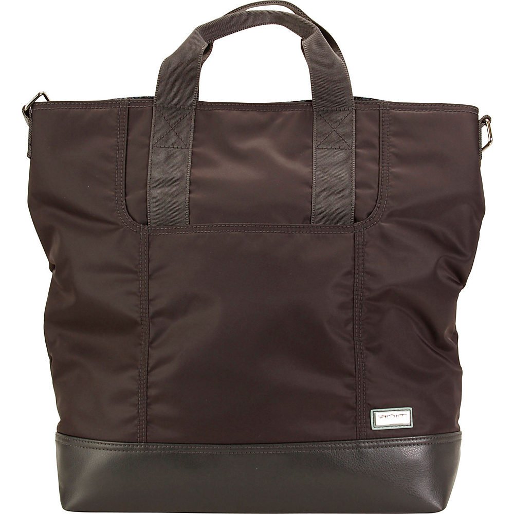 Hadaki French Tote Asphalt - Hadaki Manmade Handbags - Handbags, Manmade Handbags