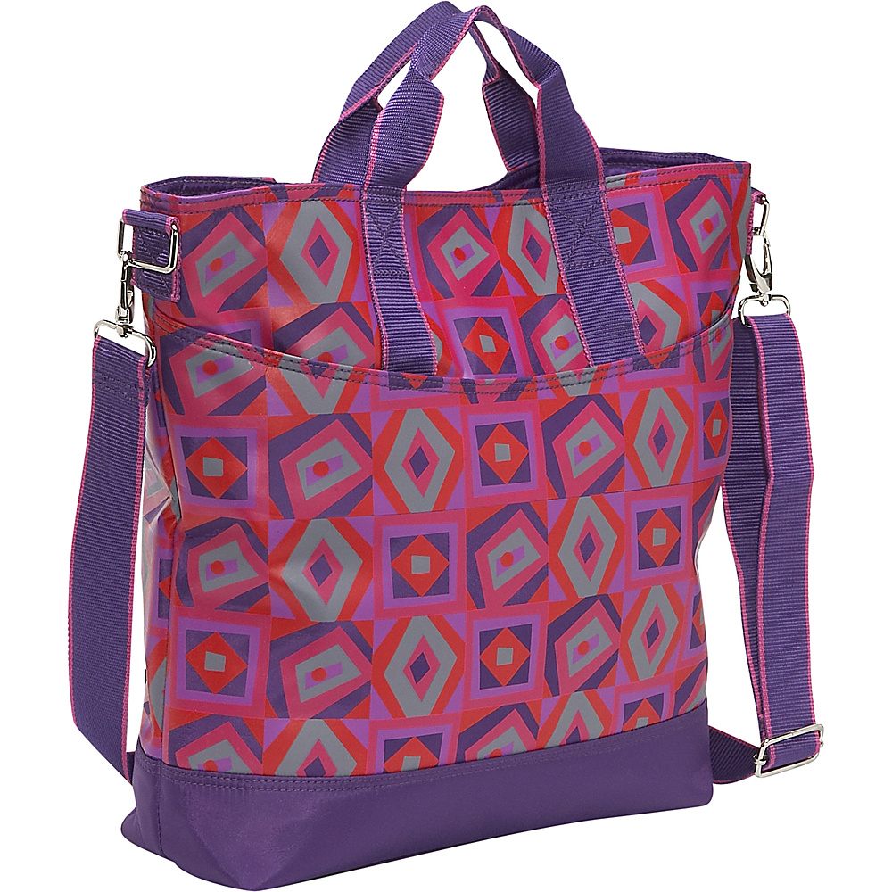 Hadaki French Tote Tic Tac Toe Berry
