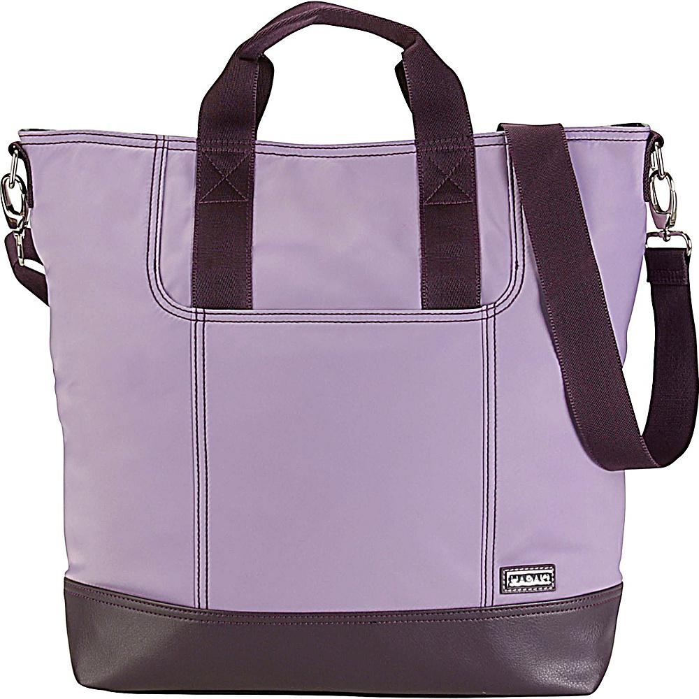 Hadaki French Tote Field Orchid - Hadaki Manmade Handbags - Handbags, Manmade Handbags