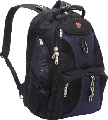 SwissGear Travel Gear ScanSmart Backpack 1900 Black/Blue EXCLUSIVE COLOR - SwissGear Travel Gear Laptop Backpacks