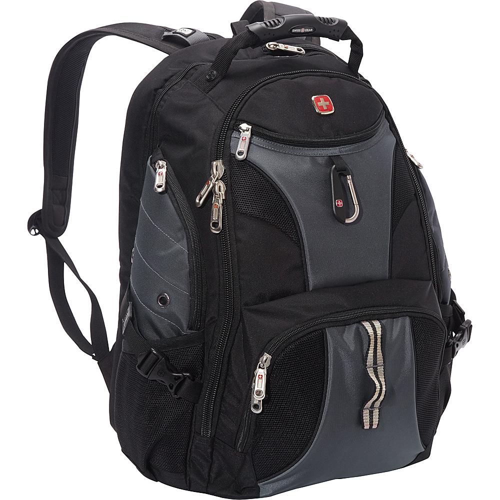 """SwissGear Travel Gear 1900 Scansmart TSA Laptop Backpack - 19"""" eBags Exclusive Black/Grey - SwissGear Travel Gear Business & Laptop Backpacks"""