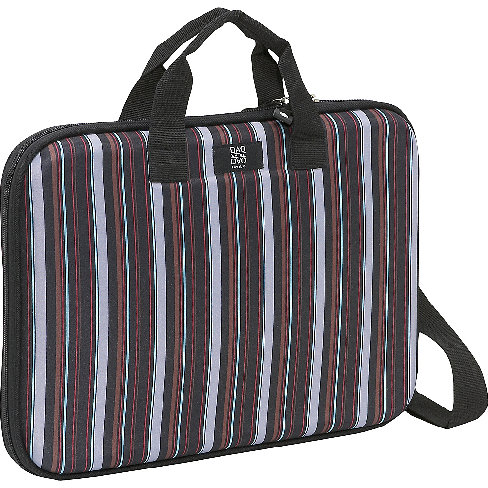 Nuo Chloe Dao Slim Laptop Brief, Pinstripe - Brown - Work Bags & Briefcases, Non-Wheeled Business Cases