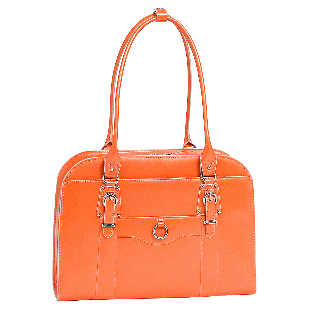 McKlein USA W Series Hillside Laptop Tote - Orange - Work Bags & Briefcases, Women's Business Bags