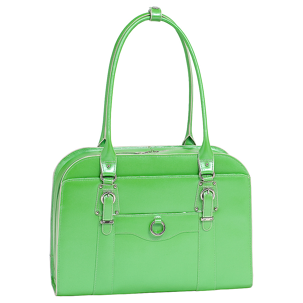 McKlein USA W Series Hillside Laptop Tote - Green - Work Bags & Briefcases, Women's Business Bags