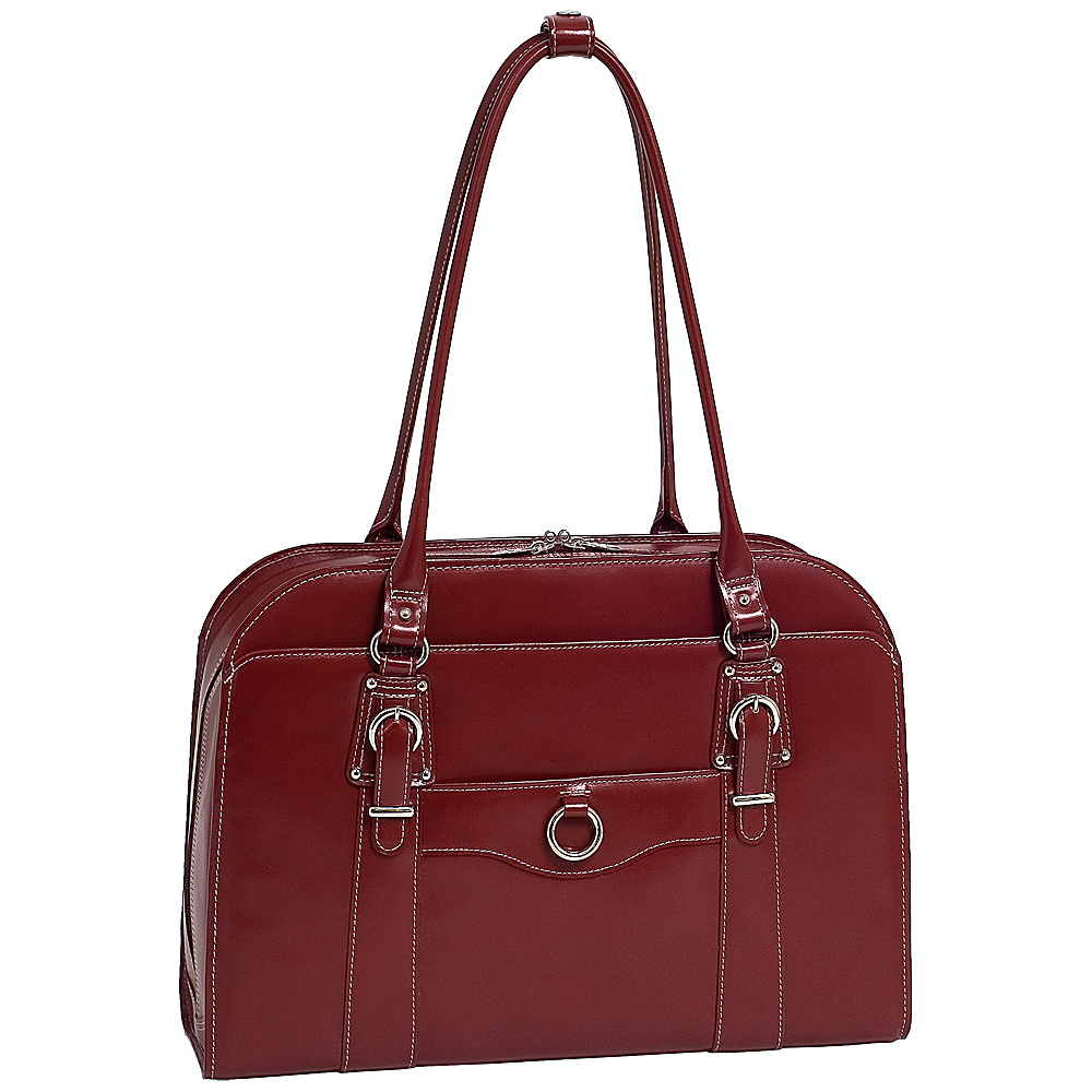 McKlein USA W Series Hillside Laptop Tote - Red - Work Bags & Briefcases, Women's Business Bags