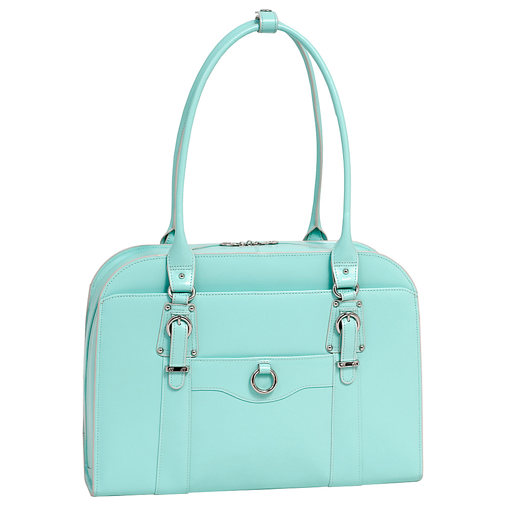 McKlein USA W Series Hillside Laptop Tote - Aqua Blue - Work Bags & Briefcases, Women's Business Bags