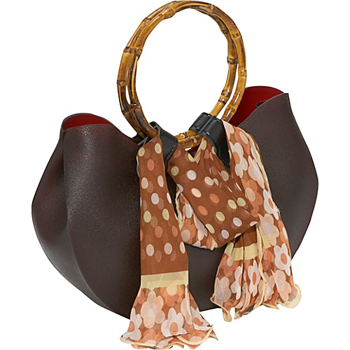 Bamboo 54 Rubber Bag With Scarf - Shoulder Bag